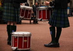 kilted drummers