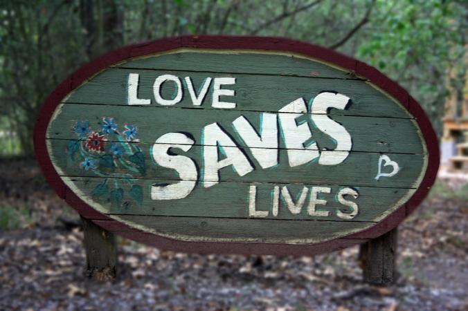 love saves lives sign
