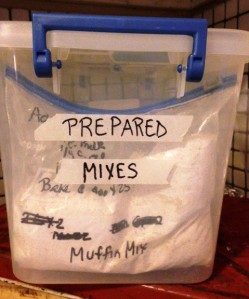 box of prepared mixes