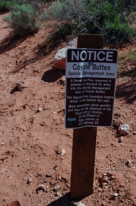 coyote Buttes sign
