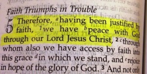 Romans 5-1 peace with Christ