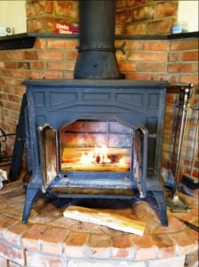 wood stove at farm